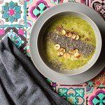 Vellutata di Broccolo con semi di Chia, semi di Lino e Nocciole