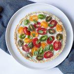 Crostata salata con crema di Ricotta e Pomodorini