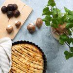 Pie vegetariana con funghi e castagne